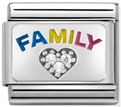 Nomination Silvershine Family Love Rainbow Charm