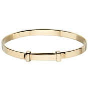 Little Star Flores Gold Christening Bangle