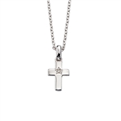 Little Star Grace Diamond Cross Necklace