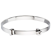 Little Star Inez Diamond Star Christening Bangle