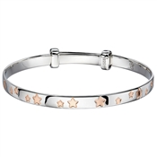 Little Star Jessica Rose Gold Star Christening Bangle