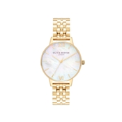 Olivia Burton Mother Of Pearl Gold Bracelet Watch