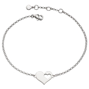 Little Star Adults Poppy Open Heart Bracelet