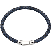 Little Star Reed Mens Navy Leather Bracelet