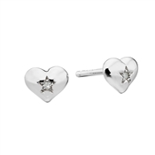 Suri Diamond Heart Stud Earrings  by Little Star