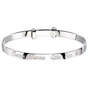 Little Star Twinkle Diamond Star Christening Bangle