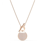 Swarovski Ginger Rose Gold T-Bar Necklace