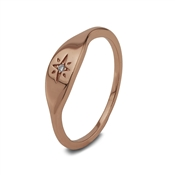 Argento Rose Gold Star Chunky Ring