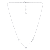Argento Silver Triple Snowflake Necklace