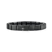 Nomination GLAM Black Stripe Bracelet