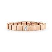Nomination GLAM Rose Gold Oval Crystal Bracelet