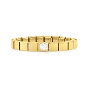 Nomination GLAM Gold Mother Of Pearl Heart Bracelet