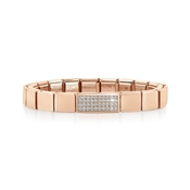 GLAM Rose Gold Double Crystal Bracelet  by Nomination