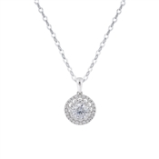 Argento Silver Halo Sparkle Necklace