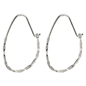 Pilgrim Silver Olena Hoop Earrings