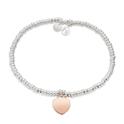 Argento Mixed Metal Hearts Beaded Bracelet