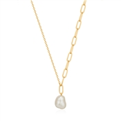 Ania Haie Gold Pearl Chunky Necklace