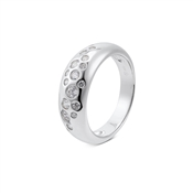 Argento Silver Chunky Crystal Ring
