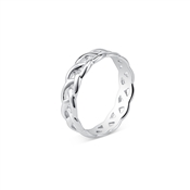 Argento Silver Chunky Linked Chains Ring
