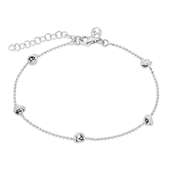 Silver Knotted Bracelet by Argento