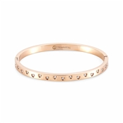 Nomination Rose Gold Infinito Crystal Heart Bangle