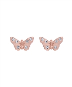 Rose Gold Sparkle Butterfly Earrings by Olivia Burton