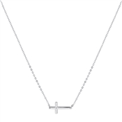 Argento Silver Engraving Cross Necklace