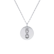Argento Silver Infinity Coin Engraving Necklace