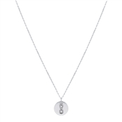 Silver Infinity Coin Engraving Necklace by Argento