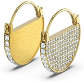 Swarovski Ginger Gold Hoop Earrings