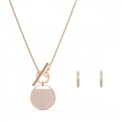 Swarovski Ginger Rose Gold T-Bar Set