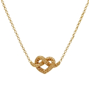 Kate Spade New York Gold Love Me Knot Mini Crystal Necklace