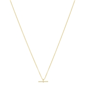 Argento Gold Petite T-Bar Crystal Necklace