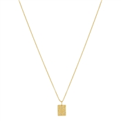 Argento Gold Shooting Star Tag Necklace