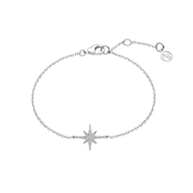 Silver Midnight Star Bracelet by Argento