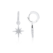 Silver Midnight Star Drop Earring by Argento