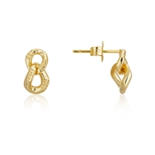 Argento Gold Link Drop Earring