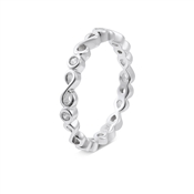 Argento Silver Infinity Band Ring