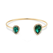 August Woods Gold & Green Teardrop Bangle