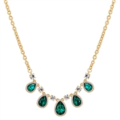 August Woods Gold & Green Teardrop Necklace