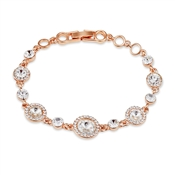 August Woods Rose Gold Crystal Halo Bracelet