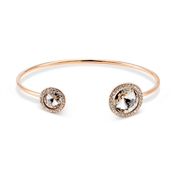 August Woods Rose Gold Crystal Halo Bangle