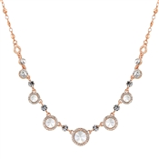 August Woods Rose Gold Crystal Halo Necklace