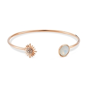 August Woods Rose Gold Opal Star Bangle