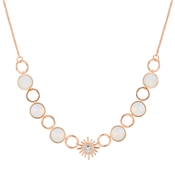 August Woods Rose Gold Opal Star Necklace