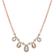 August Woods Rose Gold Teardrop Statement Necklace