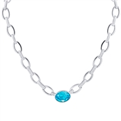 August Woods Arctic Aqua Crystal Statement Necklace