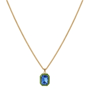 August Woods Gold Green & Blue Necklace