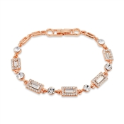 August Woods Rose Gold Crystal Bracelet