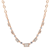 Rose Gold Crystal Necklace by August Woods